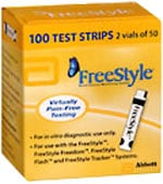 FreeStyle Glucose Test Strips Box of 100 $ 60.05