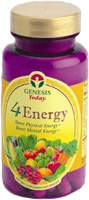 Genesis Today - 4Energy - Herbal Dietary Supplement - 60 capsules
