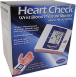 Home Aide Diagnostics Heart Check Wrist Blood Pressure Monitor