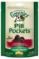Greenies Canine Pill Pockets Hickory Smoke Capsule 30/pk $ 5.50