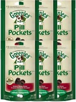 Greenies Canine Pill Pockets Hickory Smoke Tablet 30/pk - 6 Pack $ 26.61