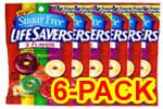 Life Savers Sugar Free 5 Flavor Hard Candy 2.75 oz - Pack of 6 $ 11.34