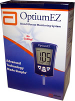 MediSense OptiumEZ Diabetes Meter Kit Blood Glucose Monitor $ 14.49