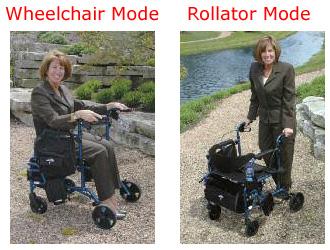 Medline Excel Translator Rollator and Wheelchair
