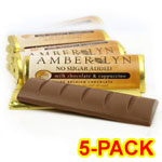 Amber Lyn Sugar Free Milk Chocolate Cappuccino Candy Bar - 5/pk $ 9.49