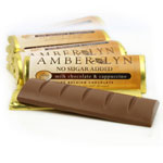 Amber Lyn Sugar Free Milk Chocolate Cappuccino Candy Bar - Each $ 1.99