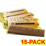 Amber Lyn Sugar Free Milk Chocolate Candy Bar - 15/pk $ 26.95