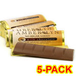 Amber Lyn Sugar Free Milk Chocolate Candy Bar - 5/pk $ 9.49