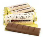 Amber Lyn Sugar Free Milk Chocolate English Toffee Candy Bar - Each $ 1.99