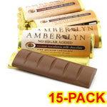 Amber Lyn Sugar Free Milk Chocolate Coconut Macadamia Candy Bar 15/pk $ 26.95