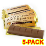 Amber Lyn Sugar Free Milk Chocolate Orange Candy Bar - 5/pk $ 9.49
