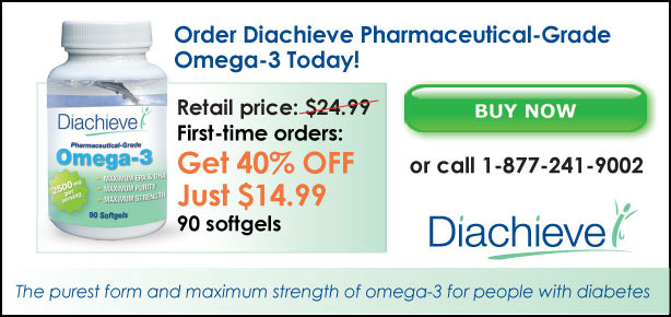 Buy Diachieve Omega-3 for Just $14.99 a bottle