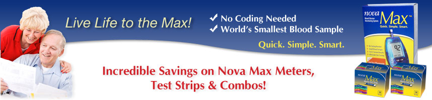 Incredible Savings on Nova Max Meters, Test Strips & Combos!