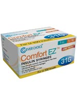 Clever Choice Comfort EZ Insulin Syringes 31G 1 cc 5/16' 100/bx $ 9.99