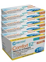 Clever Choice Comfort EZ Insulin Syringes 31G 1/2 cc 5/16' 100/bx - $ 47.45