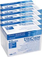 UltiCare Insulin Safety Syringe 1/2cc 29g 1/2' 100/bx Case of 5 $ 113.29
