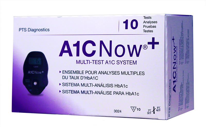 A1CNow+ Blood Glucose Monitoring System with 10 tests