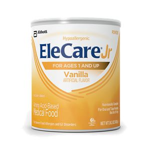 Abbott Elecare Jr. Vanilla 14.1oz Hypoallergenic Can Case of 6