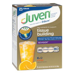 Abbott Juven Therapeutic Nutritional Drink Mix Orange 24g Case of 6
