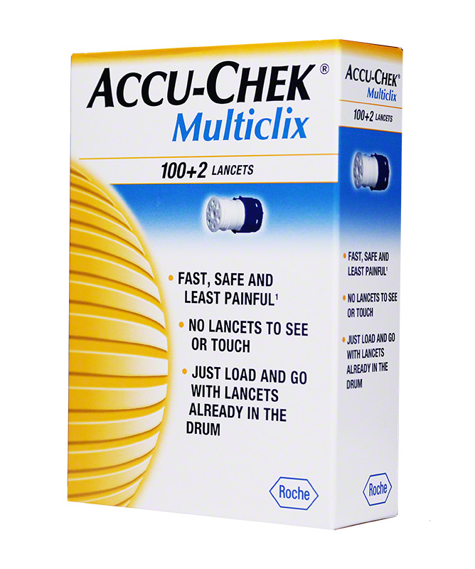 Accu-Chek MultiClix Glucose Lancets box of 102