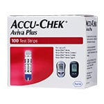 Accu-Chek Aviva Plus Glucose Test Strips Box of 100
