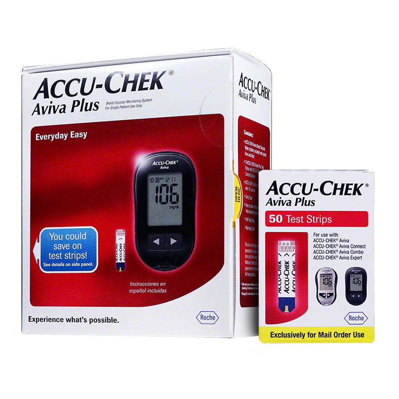 Accu-Chek Aviva Plus Diabetes Monitoring System Combo (meter, strips)