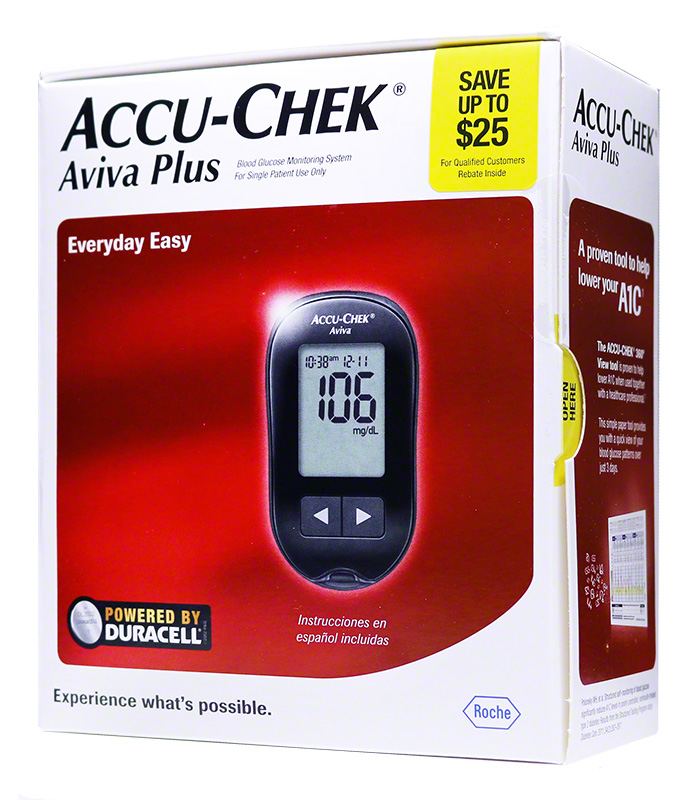 Accu-Chek Aviva Plus Diabetes Meter - Blood Glucose Monitoring System