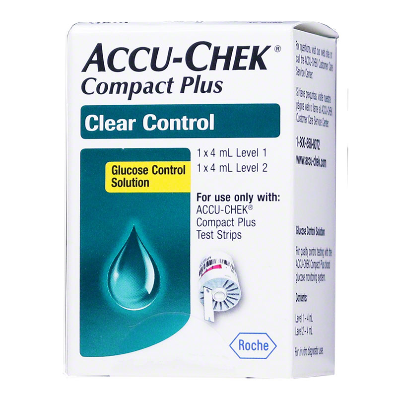 Accu-Chek Compact Plus Clear Glucose Control Solutions - High and Low