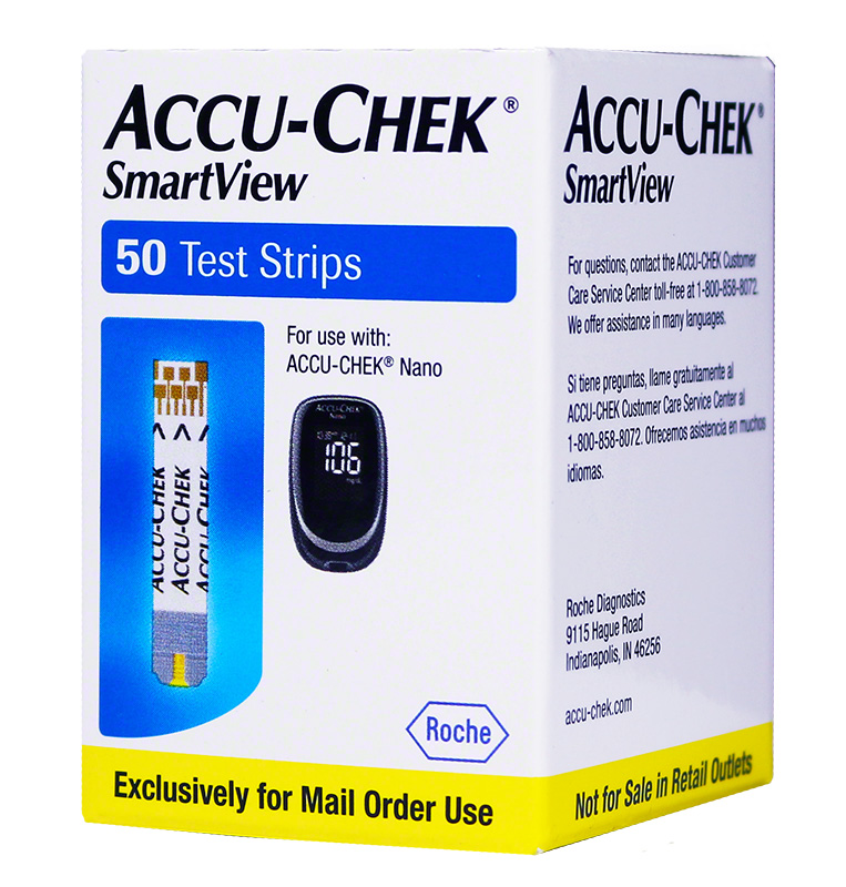Accu-Chek SmartView Test Strips 50/bx