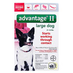 Advantage II For Large Dogs 21-55 lbs Red 6PK - 6 Month
