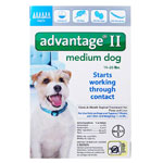 Advantage II For Medium Dogs 11-20 lbs Teal 6PK - 6 Month