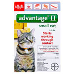 Advantage II For Small Cats 5-9 lbs Orange 6PK - 6 Month