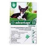 Advantage II For Small Dogs 1-10 lbs Green 6PK - 6 Month