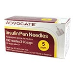 Advocate Pen Needles 31G 5mm 100 Count