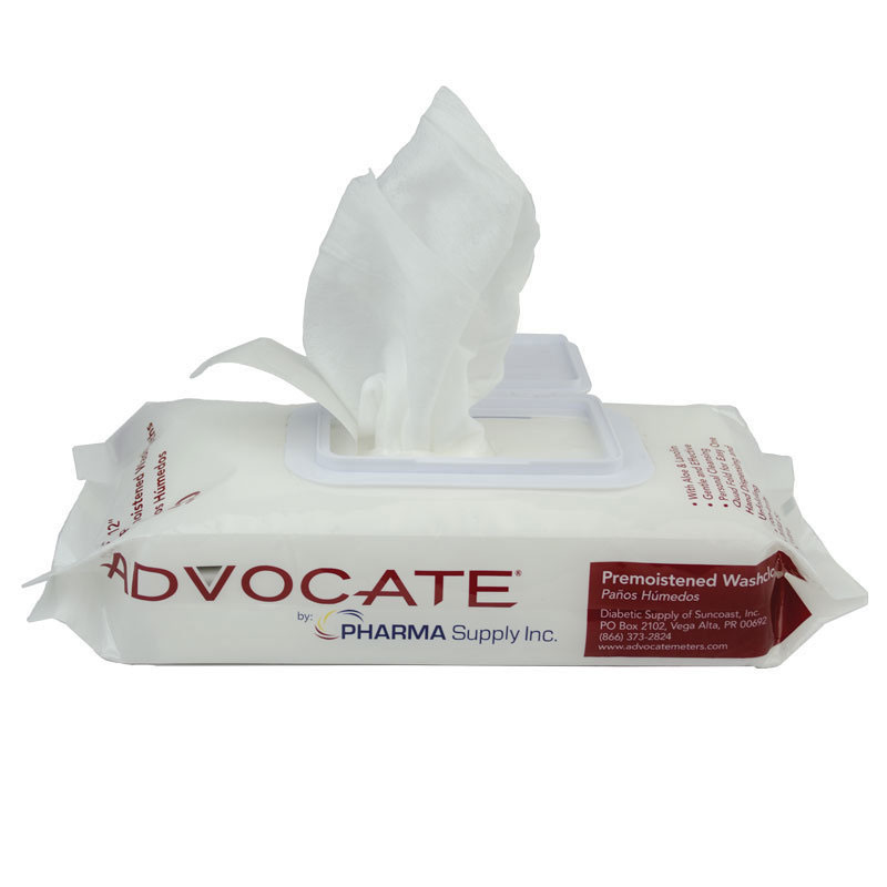 Advocate Pre-Moistened Washcloths 50ct - Pack of 12
