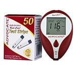 Advocate Redi-Code Plus Glucose Meter with 50 Test Strips thumbnail