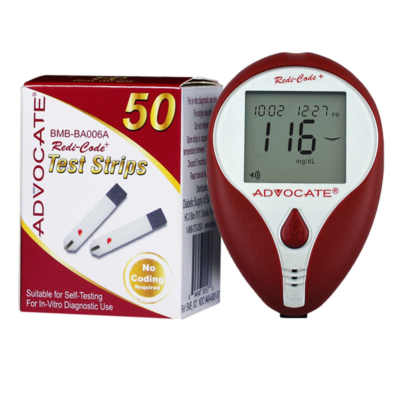 Advocate Redi-Code Plus Glucose Meter with 50 Test Strips