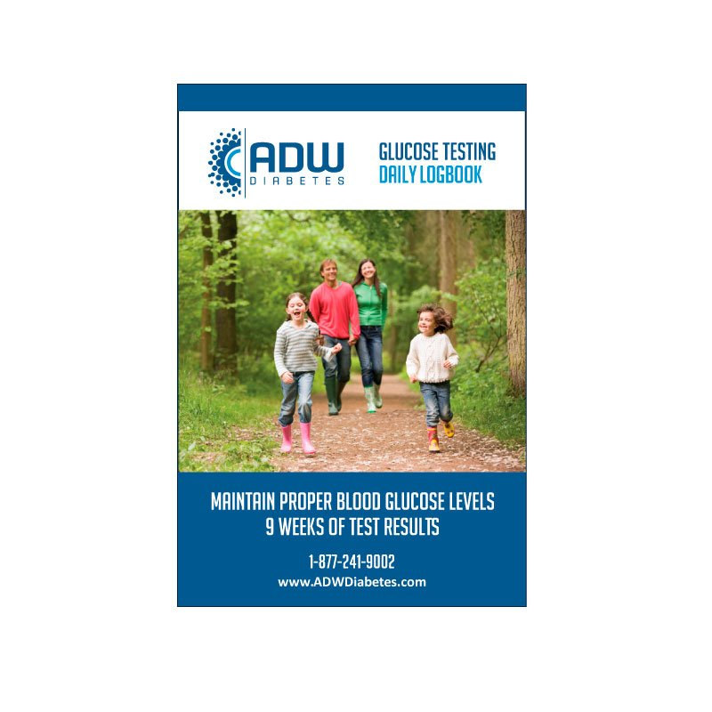 ADW Daily Diabetic Log Book Self Testing Journal 6