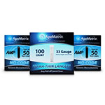 AgaMatrix Amp No-Code Glucose Test Strips 200ct & 200 Lancets thumbnail