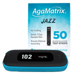 AgaMatrix Jazz Wireless 2 Kit & 50 Test Strips