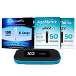AgaMatrix Jazz Wireless 2 Kit, 200 Test Strips & 200 Lancets thumbnail