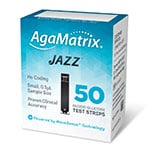 AgaMatrix Jazz Test Strips 50 Count thumbnail