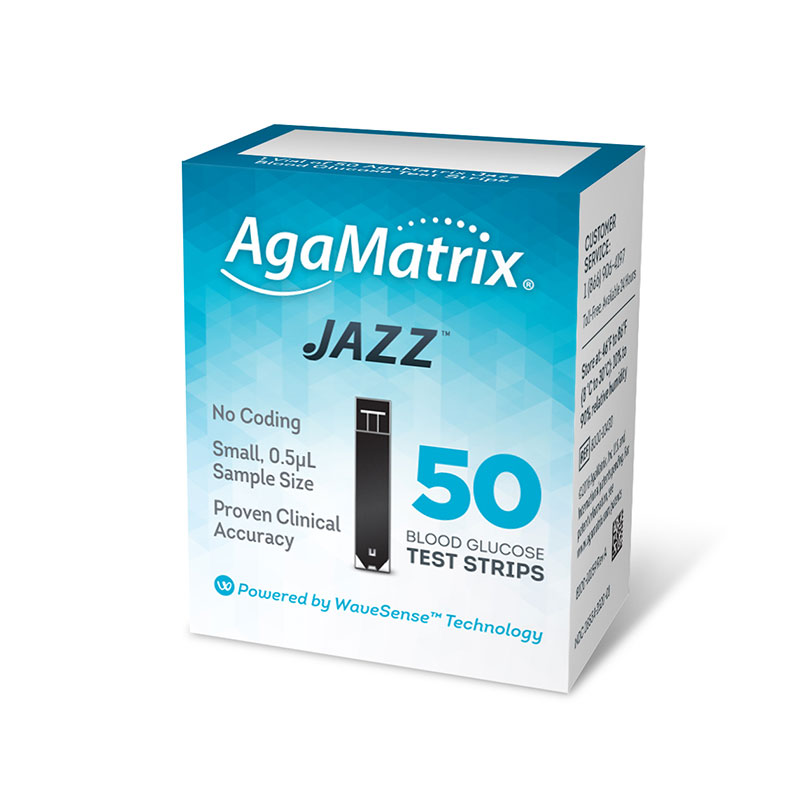 AgaMatrix Jazz Test Strips - 50ct