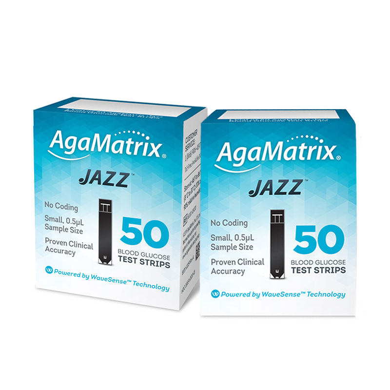 AgaMatrix Jazz Test Strips 50ct - Case of 144