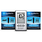 AgaMatrix Amp No-Code Blood Glucose Meter Kit & 100 Strips