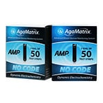 AgaMatrix Amp No-Code Blood Glucose Test Strips 100 Count thumbnail