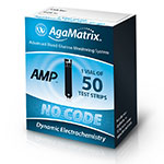 AgaMatrix Amp No-Code Blood Glucose Test Strips 50ct