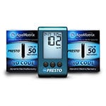 AgaMatrix Presto Blood Glucose Meter Kit and 200 Strips thumbnail
