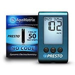 AgaMatrix Presto Blood Glucose Meter Kit and 50 Strips thumbnail