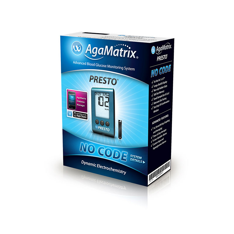AgaMatrix Presto Blood Glucose Meter Kit - Pack of 8